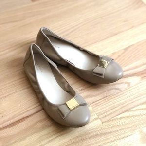 Cole Haan Tali Modern Neutral Bow Flats